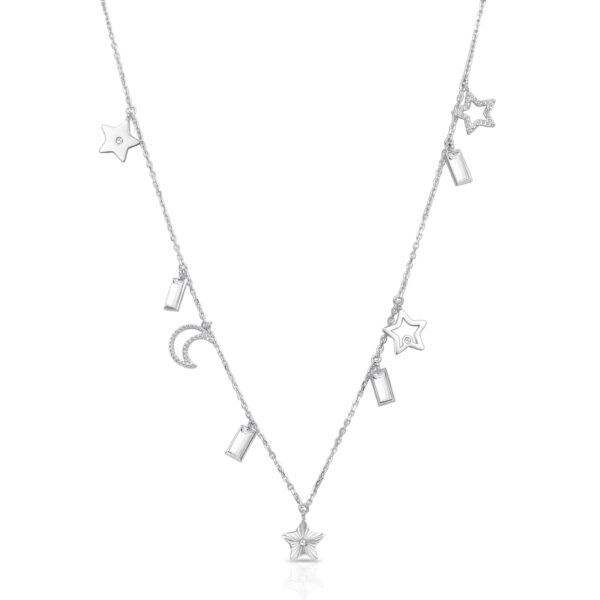 316L stainless steel necklace, with symbol pendants and Swarovski©crystals.