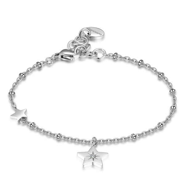 316L stainless steel with star pendant and Swarovski® crystal.