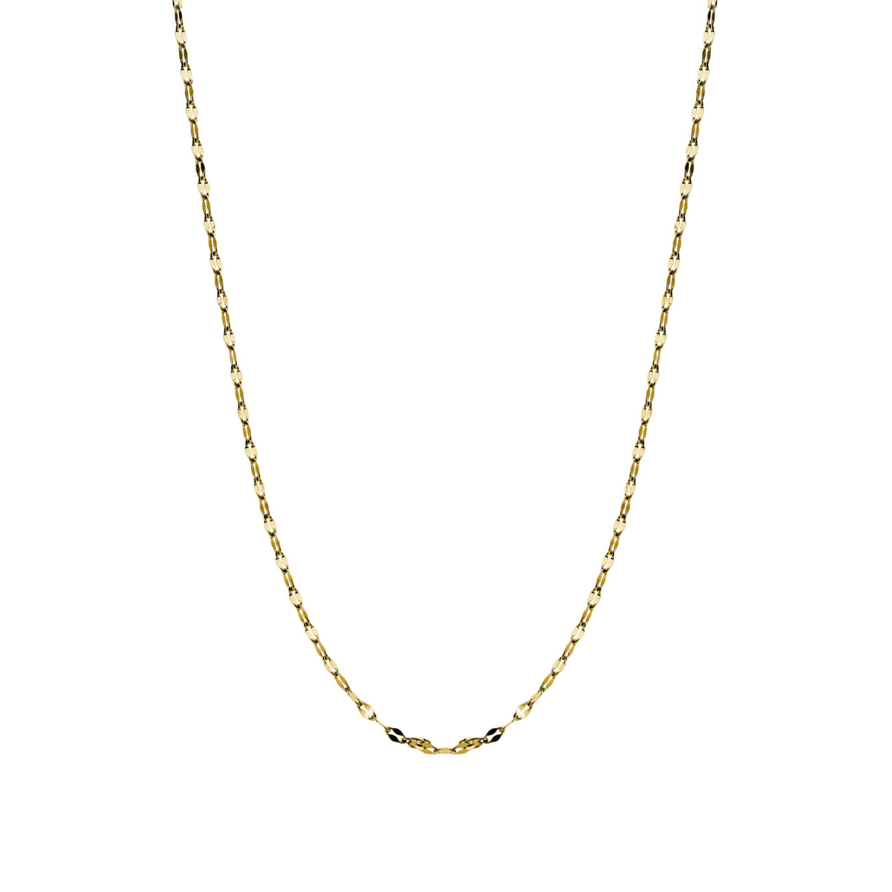 316L stainless steel necklace and gold pvd