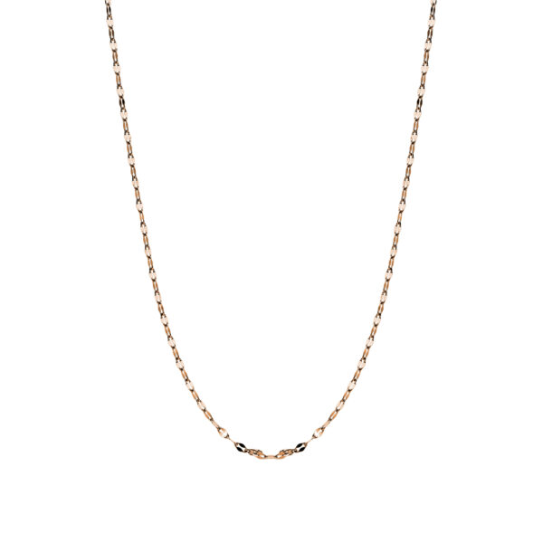 316L stainless steel necklace and rose gold pvd
