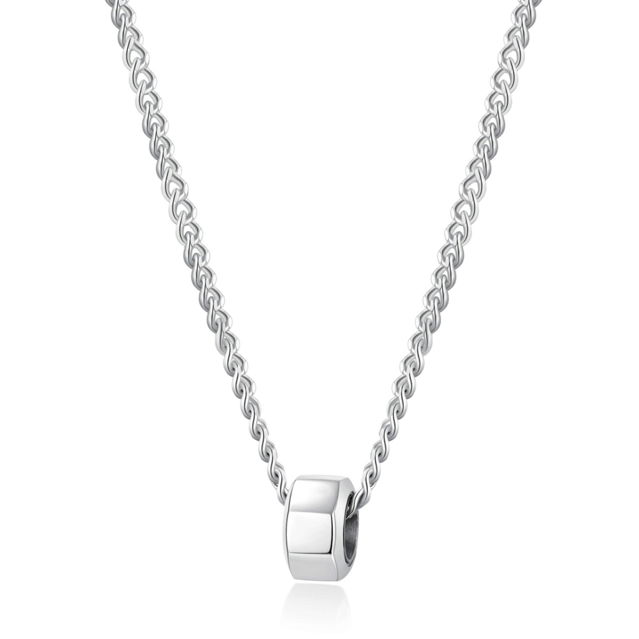 316L stainless steel necklace.