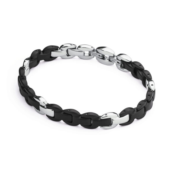 316L stainless steel bracelet with black pvd