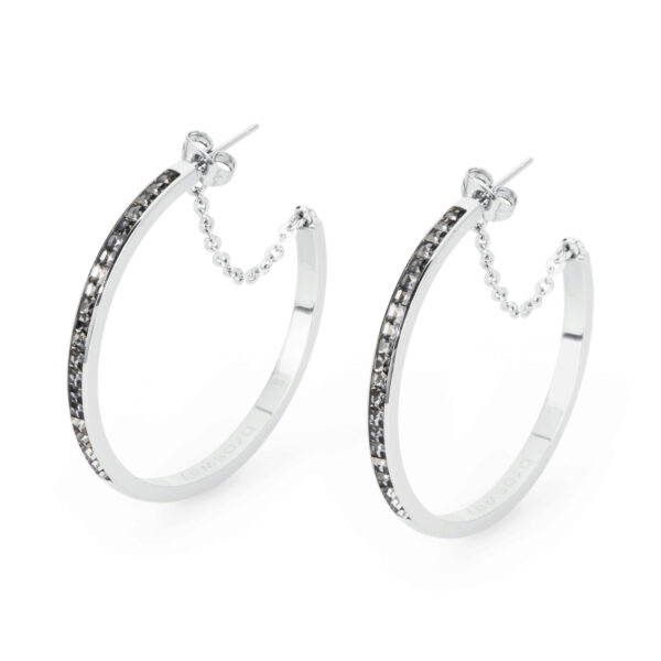 316L stainless steel and silver night Swarovski© Elements
