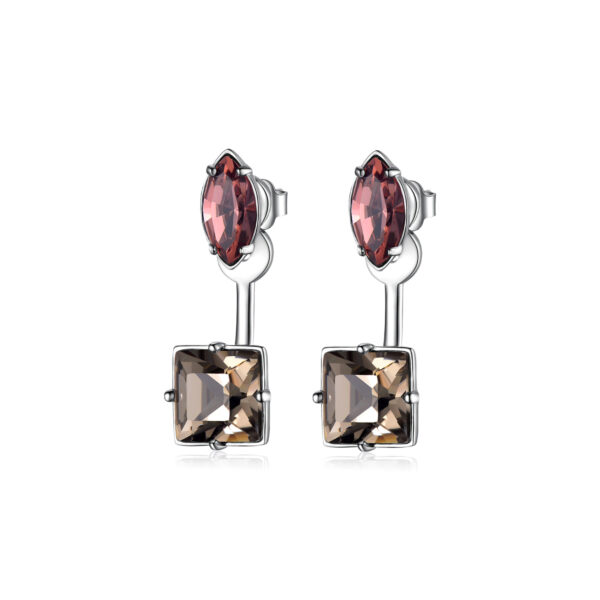 brass earrings and coloured Swarovski® Elements crystals