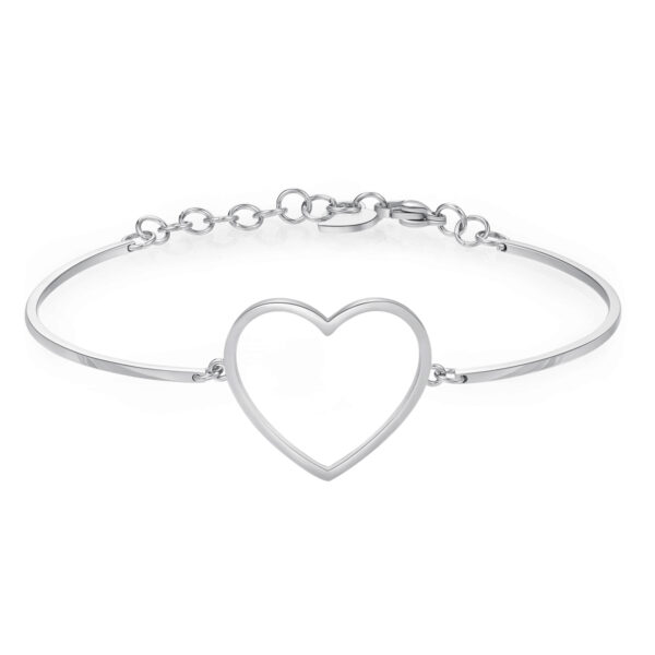 HEART: PURITY, FAITHFULNESS, SINCERITYIt represents the innate spirituality, sensitivity and morality of human beings. The heart symbolizes the center of our being, the place where deep meanings are revealed, beyond the connections determined by rational thinking.316L stainless steel.