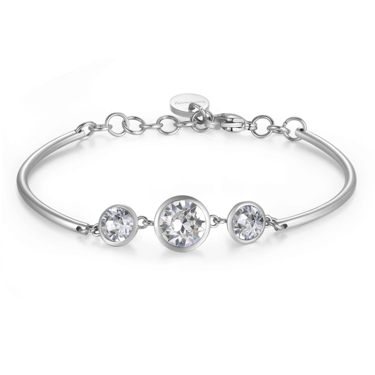 TRINITY CRYSTALS: CHANGE, NOVELTY, TRUSTThose who prefer White constantly crave change and are inspired by novelty in life. They place great trust in others and all that the future holds for them.316L stainless steel and Swarovski® crystals.