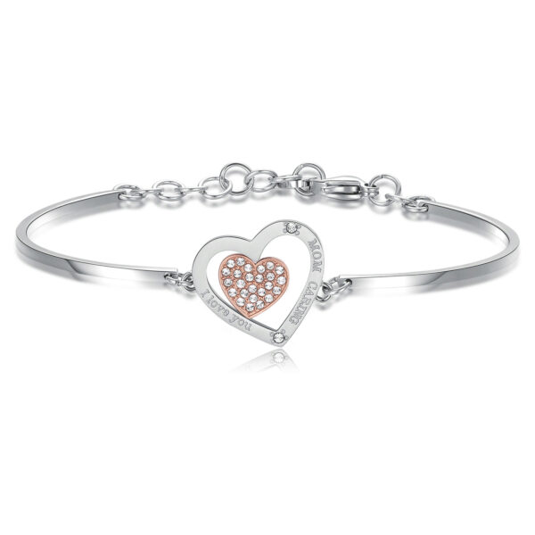 MOM CARING: LOVE, TENDERNESS, BANDENGRAVINGS:I love you - Mom caring (front) - Ti amo - Mamma premurosa (back)Mom is the person who never loses her patience, supports you in any choice, encourages you and fixes the errors. Mom is where life begins and love never ends.316L stainless steel bracelet with Swarovski® crystals.