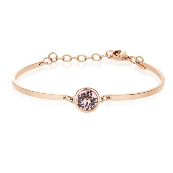 Bracelet CHAKRA Antique Rose Crystal