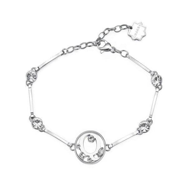 LETTER Q: ROMANTICISM, INTUITION, EMPATHYThose whose name starts with the letter 'Q' are romantic, passionate and highly intuitive. Qs love good conversations and are good at establishing close human relationships with their great empathy.316L stainless steel bracelet with letter and crystal crystals.