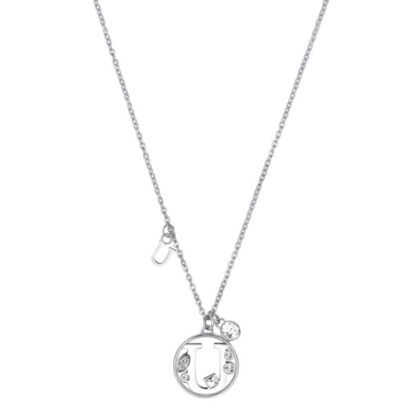 LETTER U: SOCIABILITY, PRUDENCE, VANITYThose whose name starts with the letter 'U' are torn between head and heart. Us are very sociable individuals, who are rather habitual and cautious and like being flattered and courted.316L stainless steel necklace with letter and crystal crystals.
