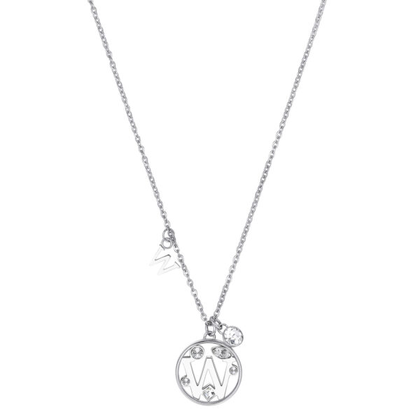 LETTER W: STRENGTH, STUBBORNNESS, PERSUASIONThose whose name starts with the letter 'W' are strong and stubborn but have a big heart. Ws are romantic and idealist individuals who have great leadership skills and power of persuasion.316L stainless steel necklace with letter and crystal crystals.