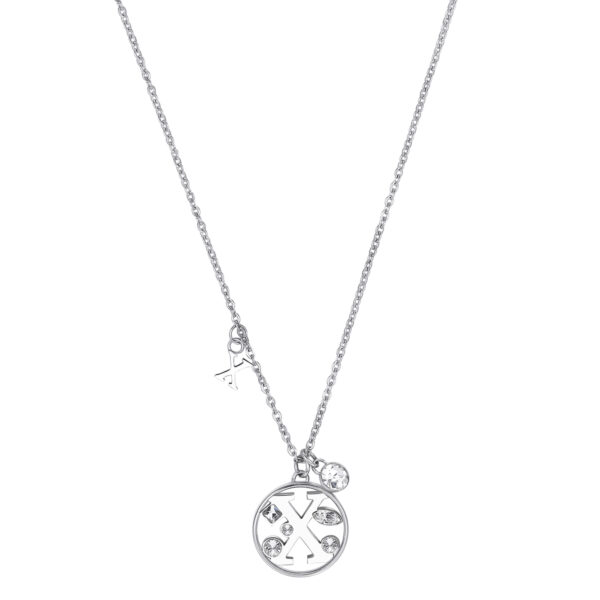 LETTER X: INTUITION, TALKATIVENESS, IDEALISMThose whose name starts with the letter 'X' have a bent for financial issues and are highly intuitive in business. Xs are talkative individuals who hold dear their ideals.316L stainless steel necklace with letter and crystal crystals.