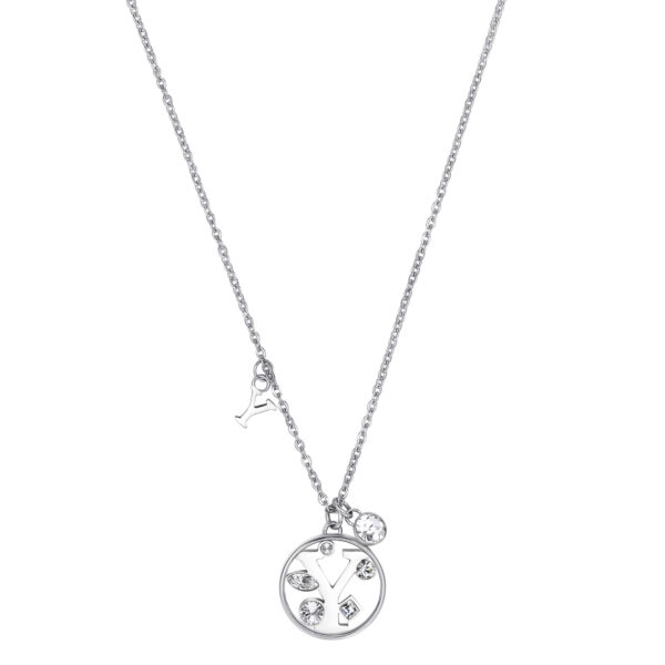 LETTER Y: CURIOSITY, SENSUALITY, LIBERTYThose whose name starts with the letter 'Y' are passionate and curious, sensual and dominant. Ys are free, independent individuals always looking for new stimuli.316L stainless steel necklace with letter and crystal crystals.
