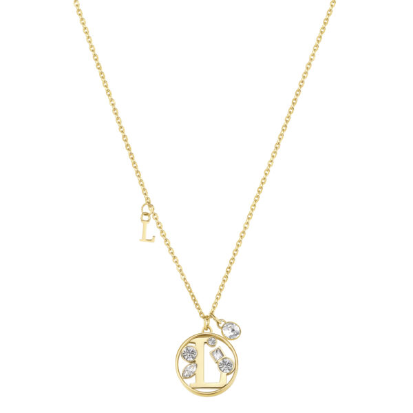 LETTER L: ABILITY, COMMUNICATION, LIBERTYThose whose name starts with the letter 'L' have great literary skills. Ls love communicating with others and expressing all their feelings. They don't like taking orders from anyone, hate restrictions and want to feel free.316L stainless steel necklace and gold finishes with letter and crystal crystals.