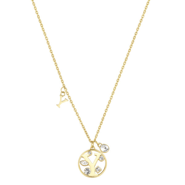 LETTER Y: CURIOSITY, SENSUALITY, LIBERTYThose whose name starts with the letter 'Y' are passionate and curious, sensual and dominant. Ys are free, independent individuals always looking for new stimuli.316L stainless steel necklace and gold finishes with letter and crystal crystals.