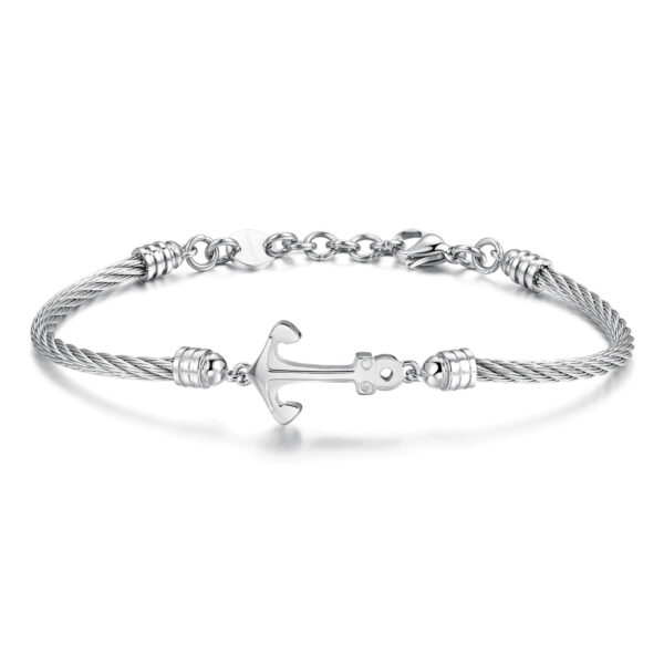 316L stainless steel bracelet with anchor