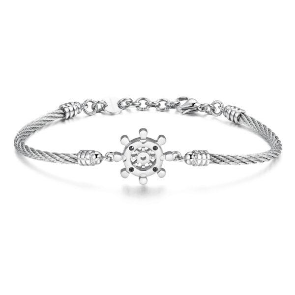 316L stainless steel bracelet with jet Swarovski©crystals