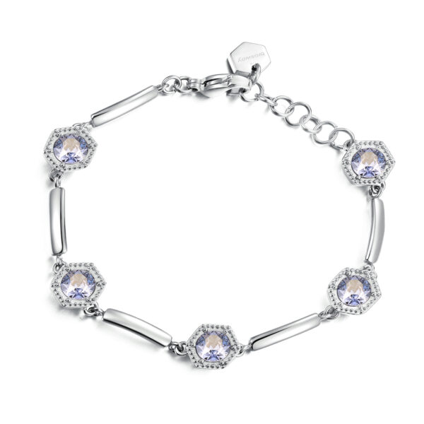 Bracelet in stainless steel with Swarovski® Elements crystals