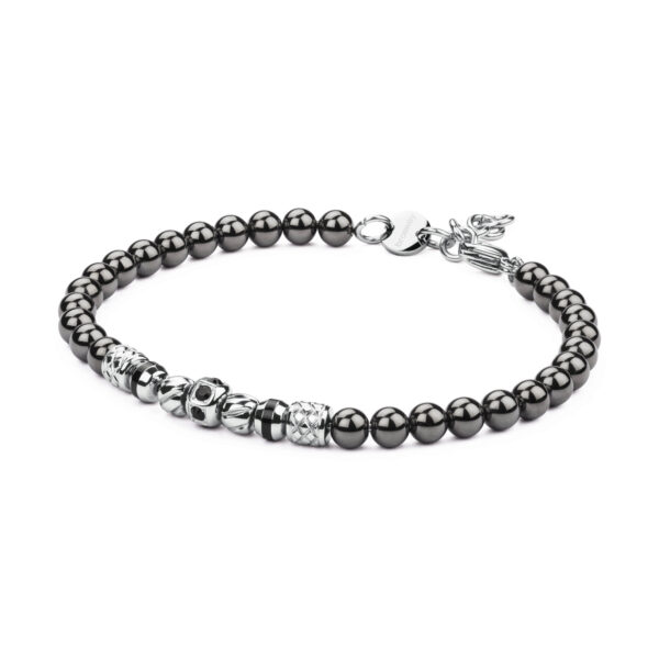 316L stainless steel, black PVD, black enamel and Swarovski© Elements crystals