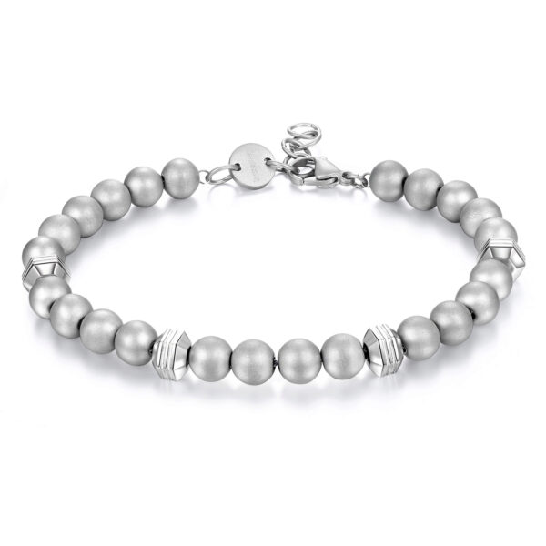 316L stainless steel with polished and satin spheres.