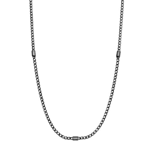 316L stainless steel necklace and gun finishes.