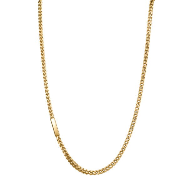 316L stainless steel necklace and gold finishes.