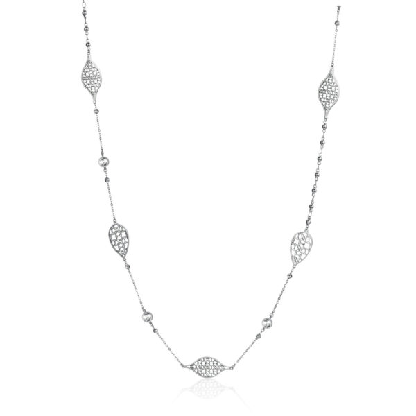 316L stainless steel necklace with crystals.
