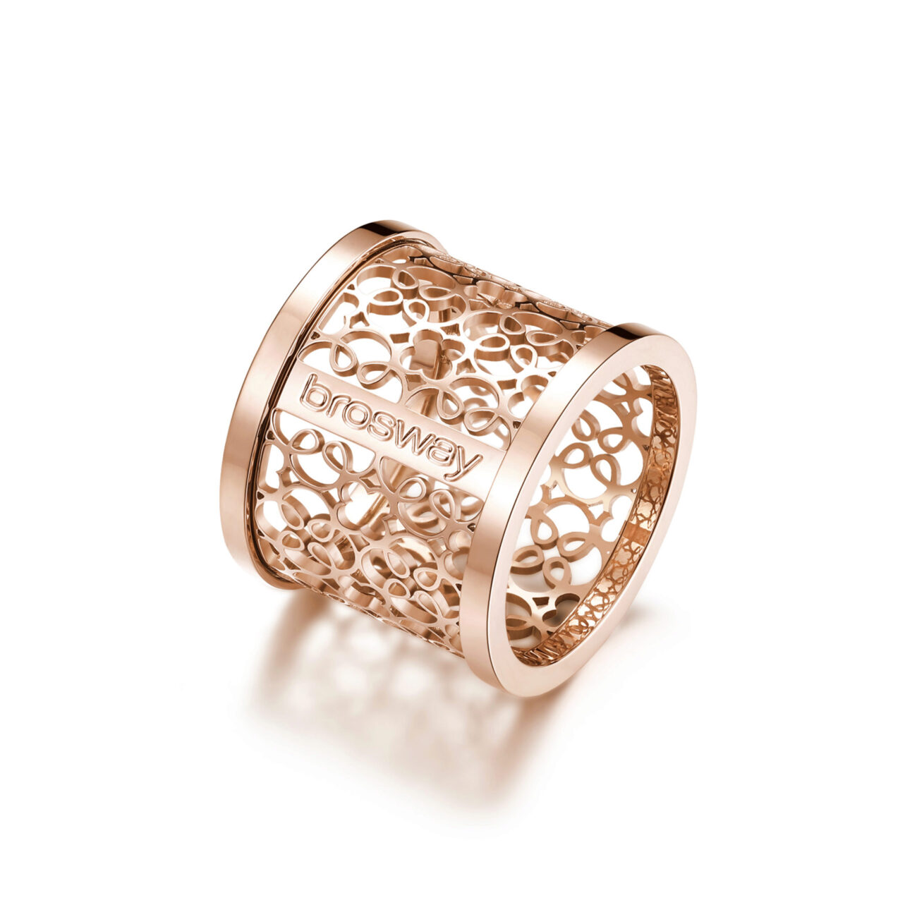 316L stainless steel ring and rose gold finishes.