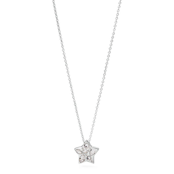 316l stainless steel necklace with a pendant in the shape of a star and Swarovski© Elements crystals