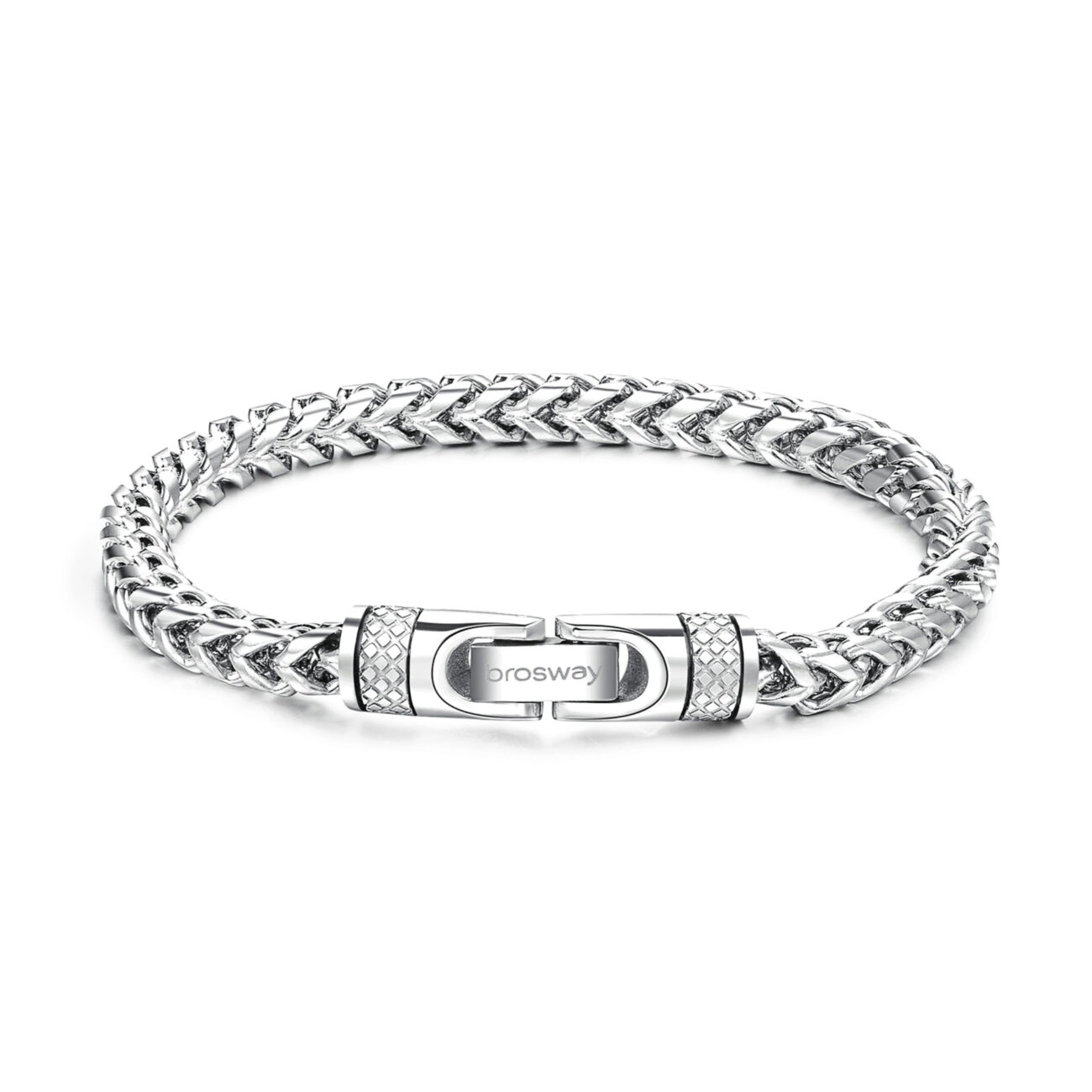 Polished and brushed 316L stainless steel bracelet.