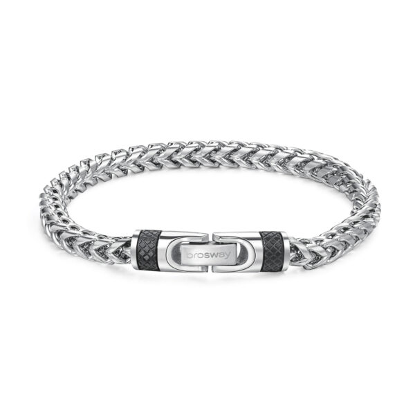 316L stainless steel bracelet with black pvd.