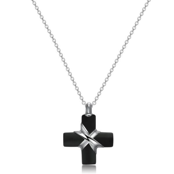316L stainless steel necklace with black pvd