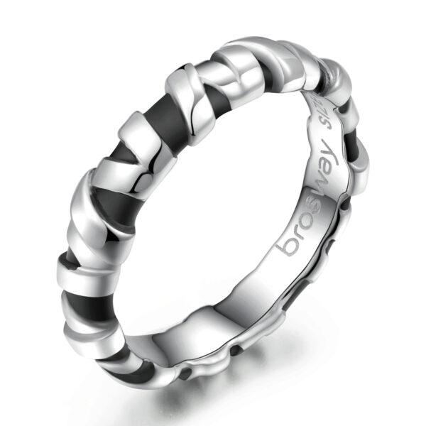 316L stainless steel ring with black pvd