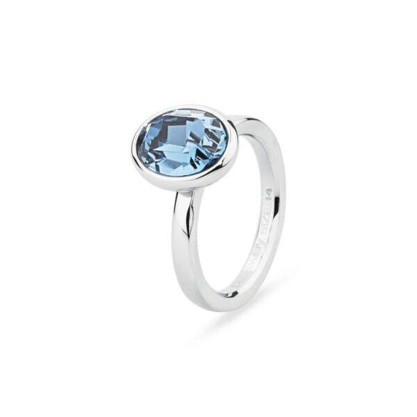 316L stainless steel ring and Swarovski® Elements crystal