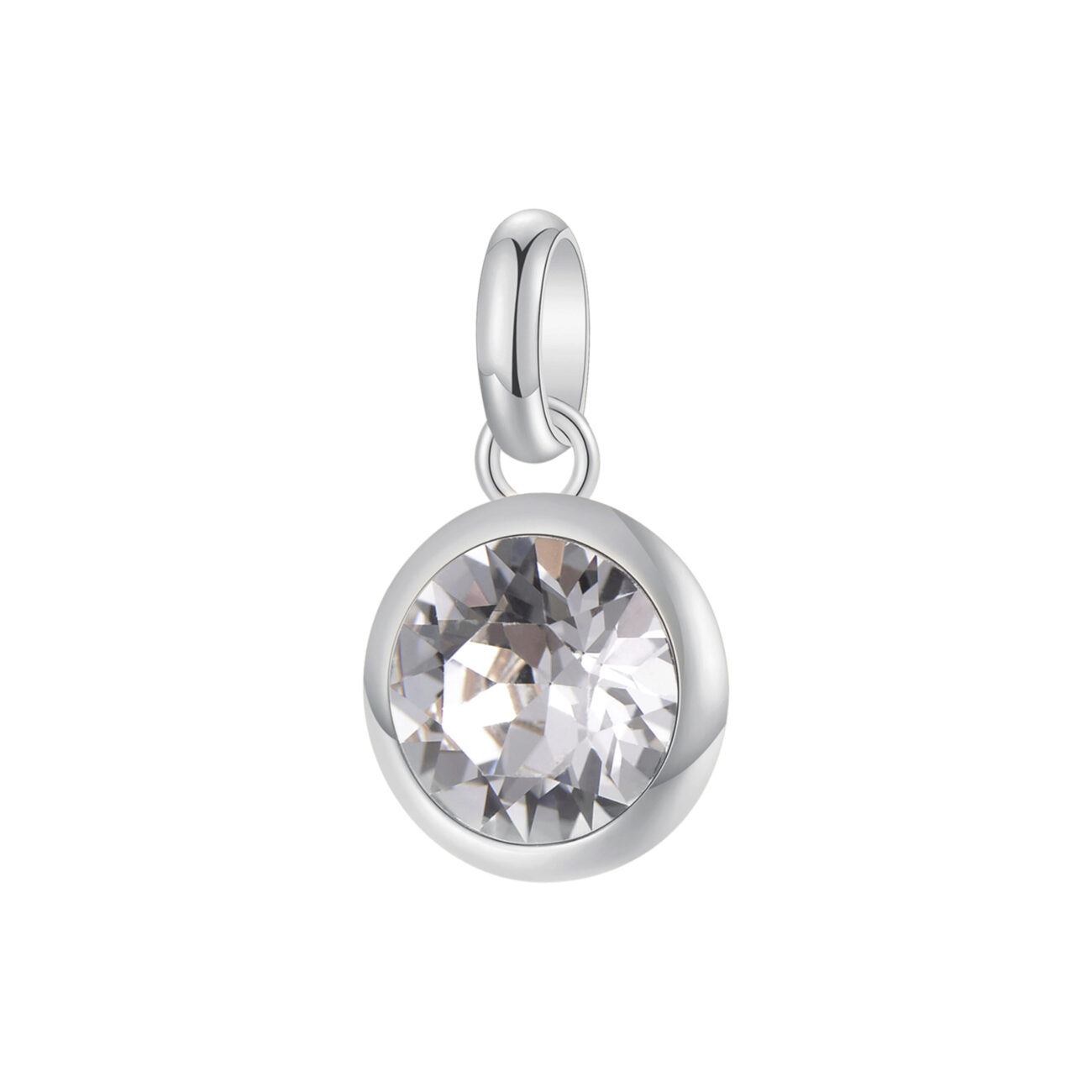 316L stainless steel beads and white Swarovski©crystal