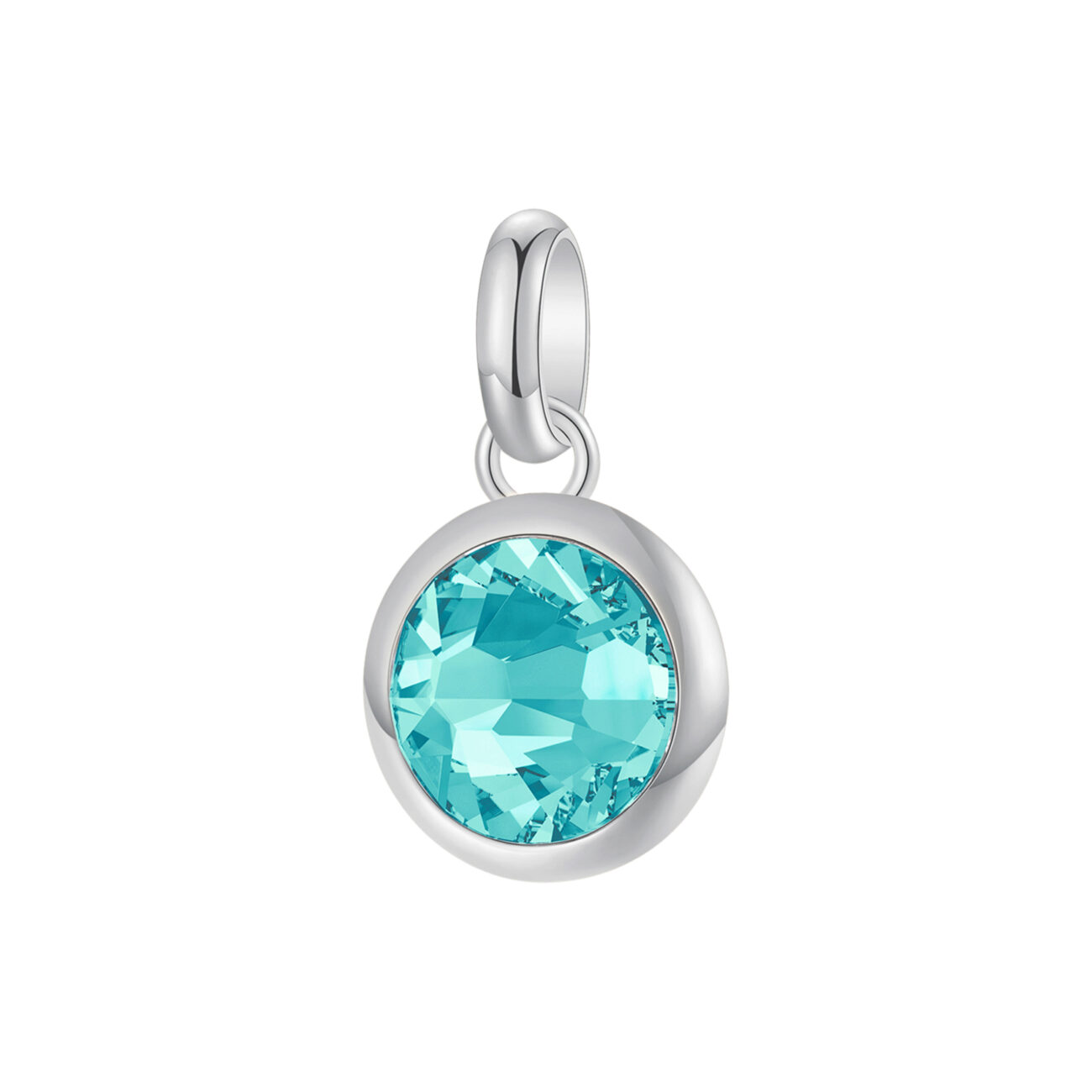 316L stainless steel beads and light turquoise Swarovski©crystal