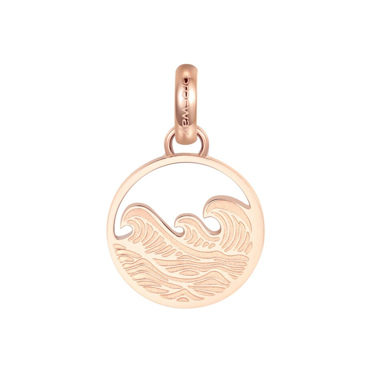 ENGRAVING: Sea Lover (back)316L stainless steel beads, rose gold finishes with sea and engraving.