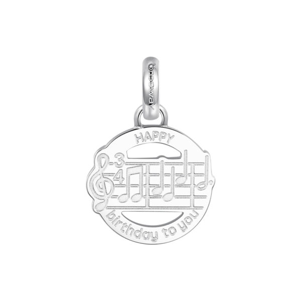 ENGRAVING:Happy birthday to you (front) – Make a wish (back) 316L stainless steel beads with musical notes.