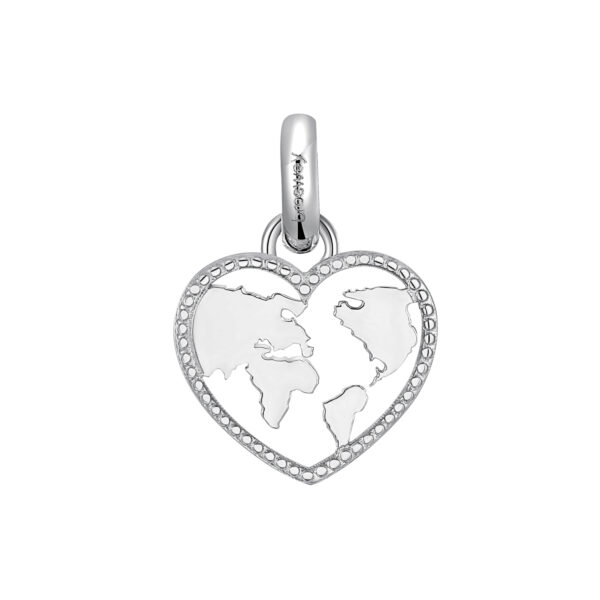 316L stainless steel beads with love-shaped pendant.