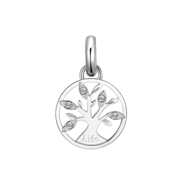 316L stainless steel beads with tree of life and Swarovski © crystals.