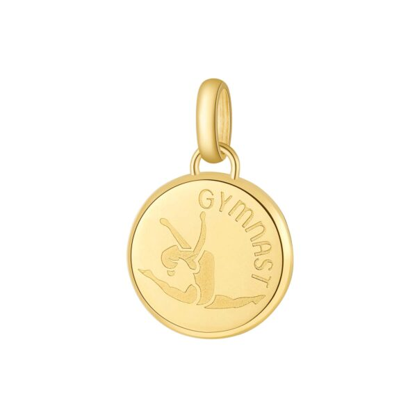 ENGRAVING: Gymnast (front)316L stainless steel beads and gold finishes with gymnast and engraving.