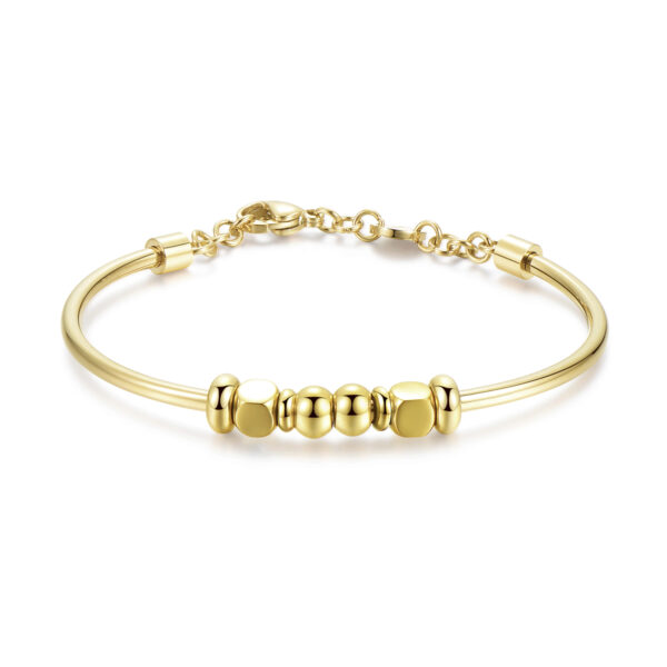 316L stainless steel bracelet and gold pvd