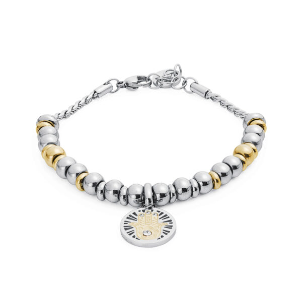 316L stainless steel composable bracelet, gold pvd and crystal Swarovski® crystal.