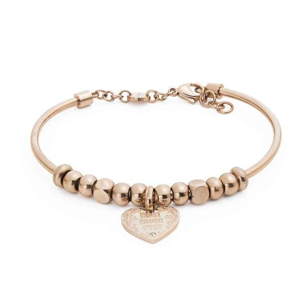 316L stainless steel composable bracelet, rose gold pvd and crystal Swarovski® crystal.