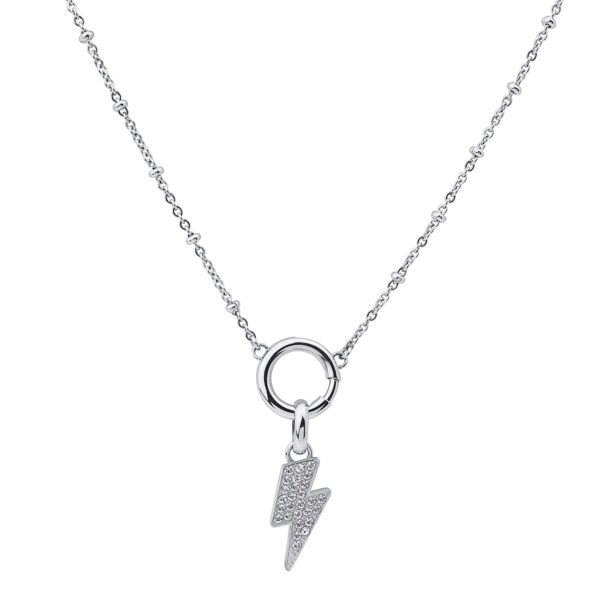316L stainless steel composable necklace with Swarovski® crystals.