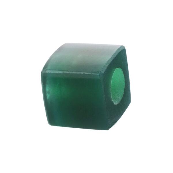 green agathe beads
