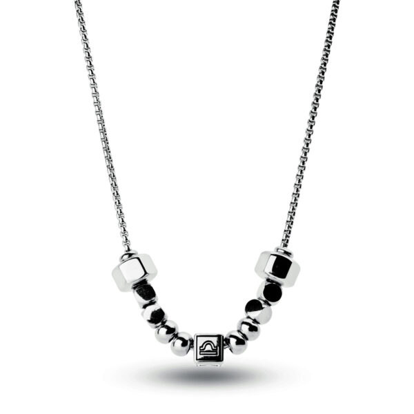 316L stainless steel composable necklace with libra sign.
