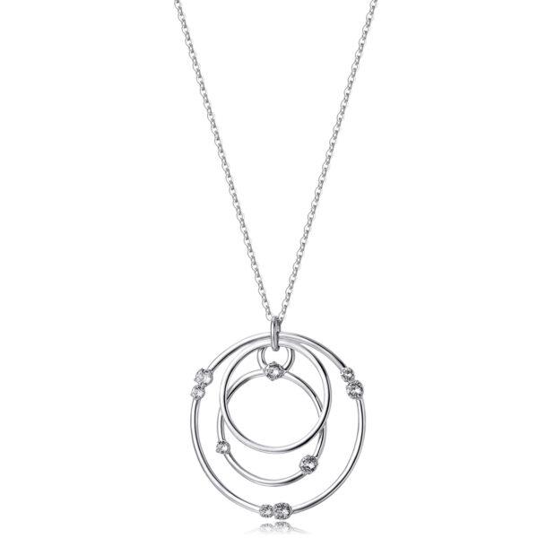 rhodiated brass necklace and Swarovski® Elements crystals