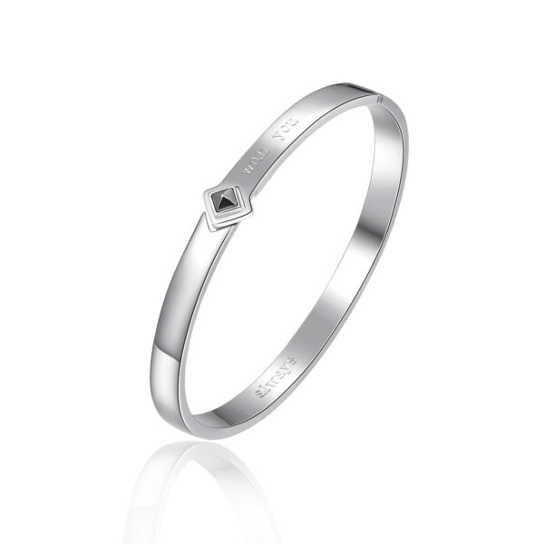 ENGRAVING: With you (front) – Always (back) 316L stainless steel bangle bracelet.