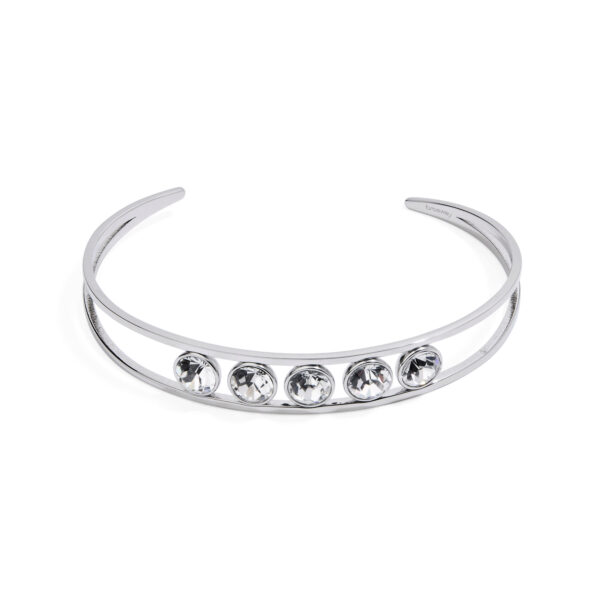 316L stainless steel bracelet with crystal crystals.